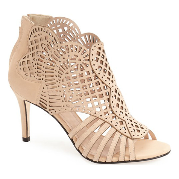 KLUB NICO mirelle cutout bootie - Intricate laser cutouts lend a breezy summer vibe to a...