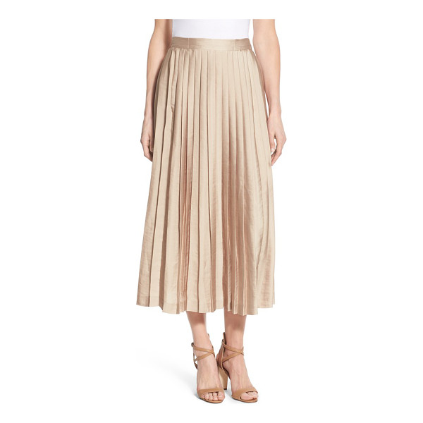 KOBI HALPERIN peyton pleat midi skirt - A pleated skirt with a satiny luster shines day or night in...