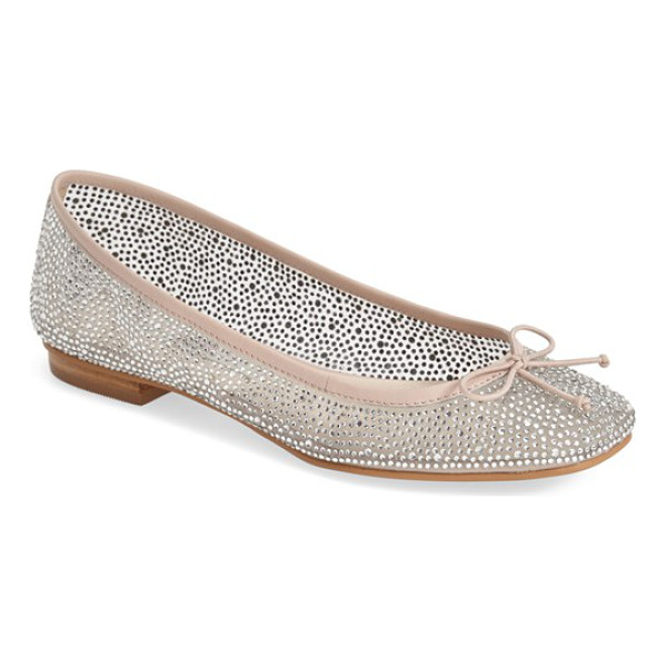 KRISTIN CAVALLARI alli mesh ballet flat - Faceted crystals flash and shimmer on a stunning ballet...