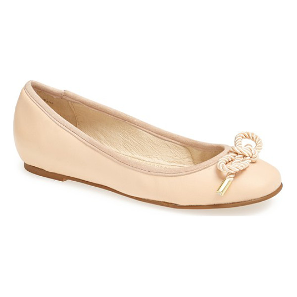 KRISTIN CAVALLARI ammiccare flat - A ropy bow with metal tips looks slightly nautical and...