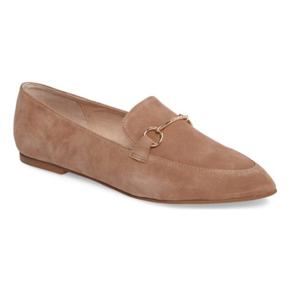 KRISTIN CAVALLARI cambrie loafer flat - Polished, equestrian-inspired hardware and a pointed toe...