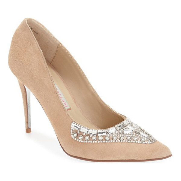 KRISTIN CAVALLARI 'dani' embellished pointy toe pump - Colorful crystals flash and shimmer on a glamorous evening