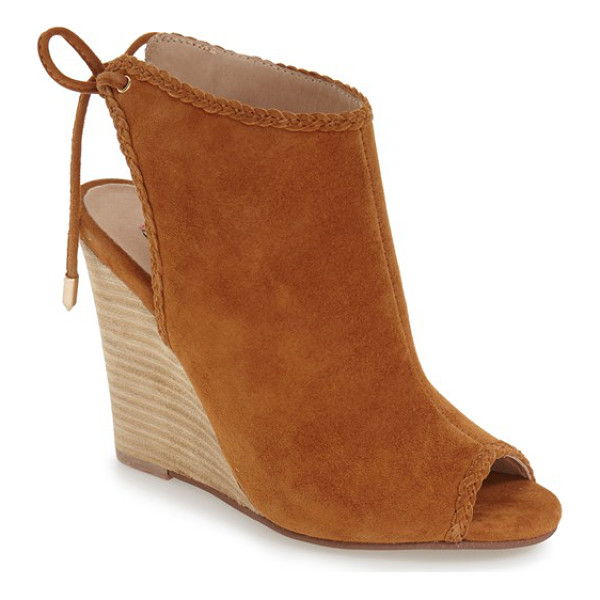 KRISTIN CAVALLARI larox wedge sandal - Braided trim and a stacked wedge heel amplify the vintage...