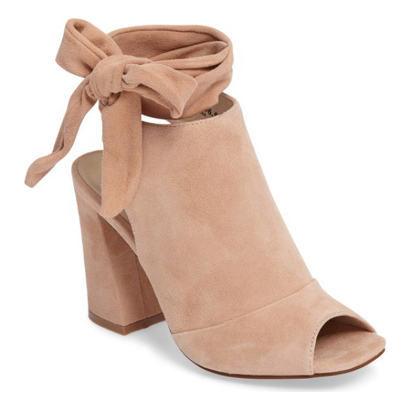 KRISTIN CAVALLARI leeds peep toe bootie - Soft suede and a high vamp define this cool-weather...