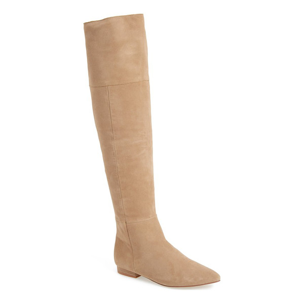 KRISTIN CAVALLARI 'york' over the knee boot - An exposed back zipper adds a flash of glamour to a...