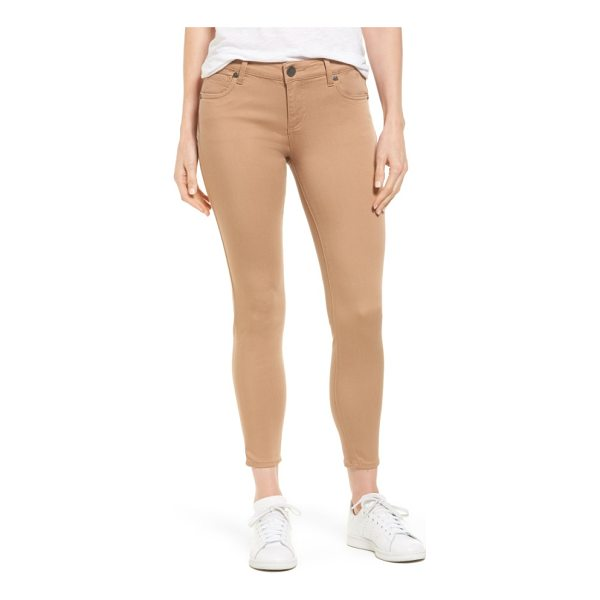 KUT FROM THE KLOTH connie stretch twill ankle skinny pants - Switch out your traditional denim blues for the...