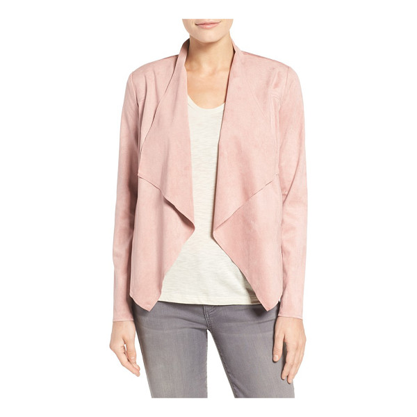 KUT FROM THE KLOTH tayanita faux suede jacket - Supple faux suede lends luxe texture and soft drape to an...