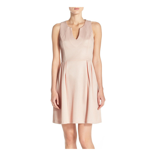 KUT FROM THE KLOTH textured fit & flare dress - A honeycomb-textured knit adds tactile dimension to this...