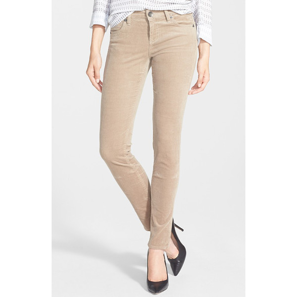 KUT FROM THE KLOTH diana stretch corduroy skinny pants - Stretchy pinwale corduroy defines the leg-hugging fit of...