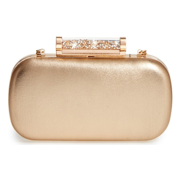 LA REGALE crystal tube clasp clutch - Accessorize to impress with a capsule evening clutch