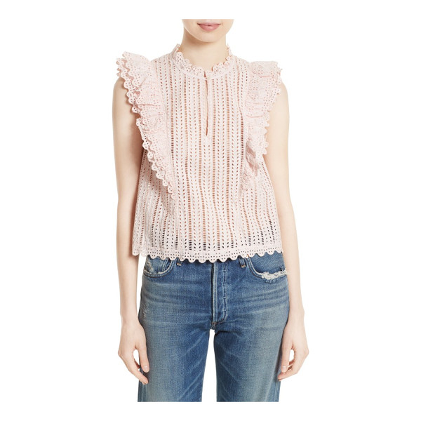 LA VIE BY REBECCA TAYLOR celsie eyelet top - A romantic trifecta of structured ruffles, peekaboo eyelet...