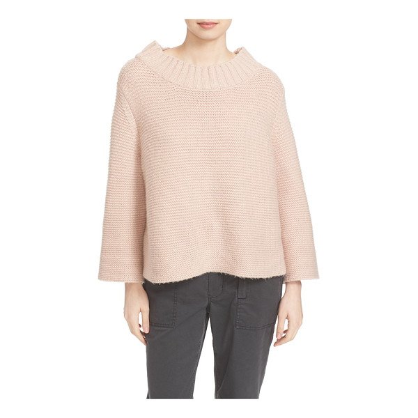 LA VIE BY REBECCA TAYLOR mock neck sweater - An exaggerated mock neck and slightly belled sleeves bring...