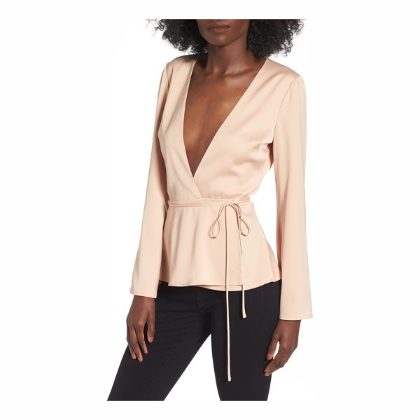 L'ACADEMIE l'academie the eliot wrap blouse - Chic in its simplicity, this wrap top is designed with a...