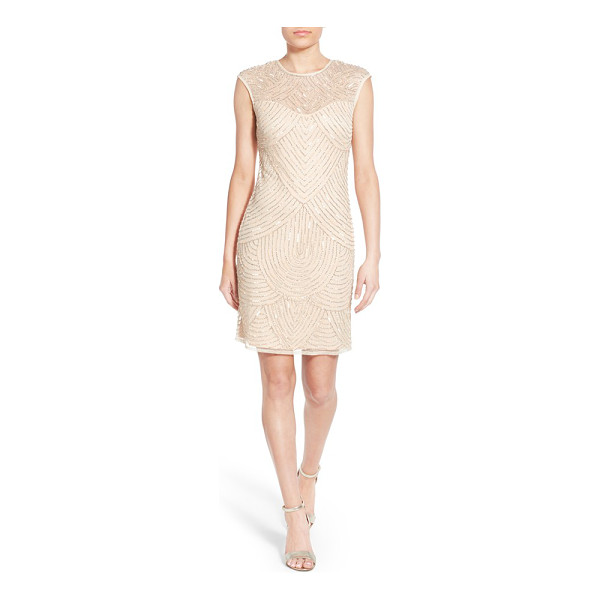 LACE & BEADS ricci embellished dress - A striking scalloped design rendered in twinkling beads and...