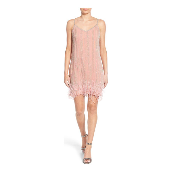 LACE & BEADS texas embellished slipdress - Channel the charm of a 1920's flapper in this ethereal...