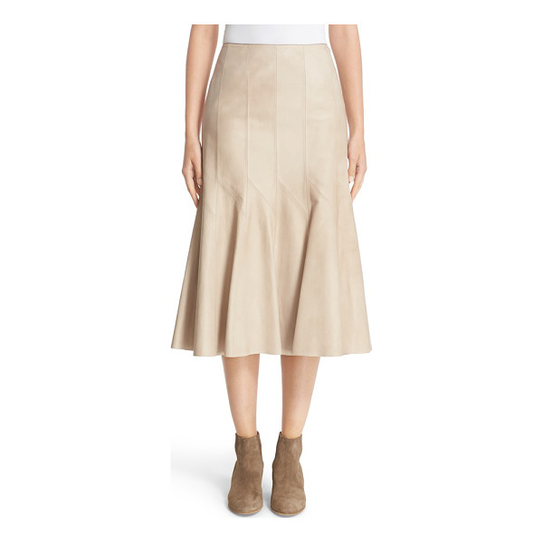 LAFAYETTE 148 NEW YORK 'aria' lambskin leather skirt - Crafted from buttery-soft lambskin leather, this...