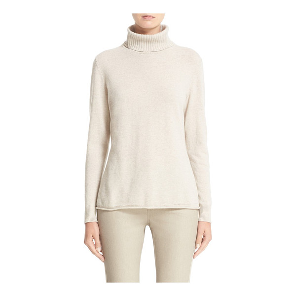 LAFAYETTE 148 NEW YORK wool & cashmere turtleneck sweater - An ultrasoft turtleneck knit from wool-and-cashmere yarns...