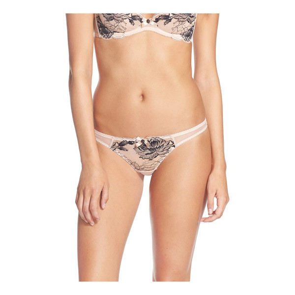 L'AGENT BY AGENT PROVOCATEUR dani thong - Lace contrasted with delicate peony embroidery brings...