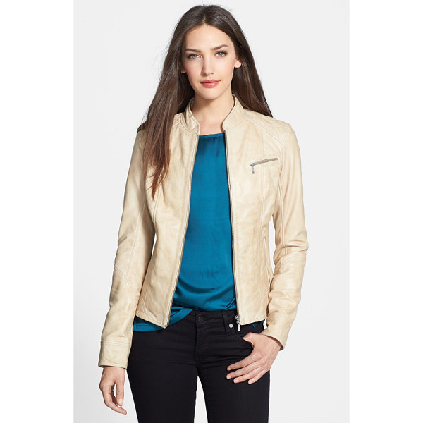 LAMARQUE zip front leather jacket - A blue that perfectly complements your favorite denim...