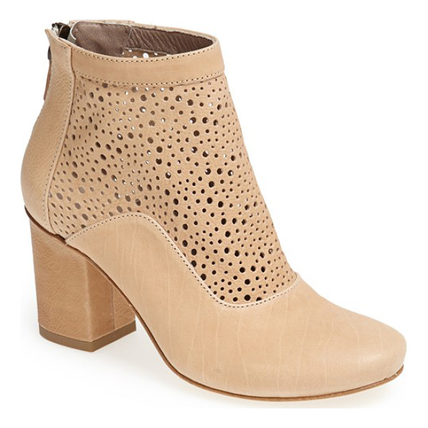 LATITUDE FEMME sahara cutout shaft leather boot - Mixed-scale perforations put a warm-weather spin on an...
