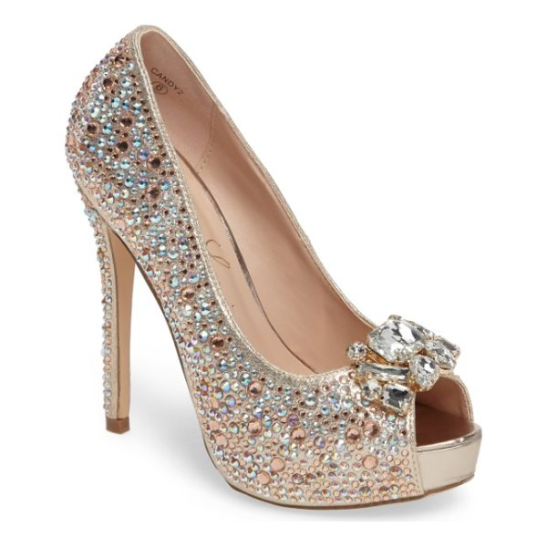 LAUREN LORRAINE candy 2 embellished platform pump - Multi-size crystals bring sparkle and dimension to a...