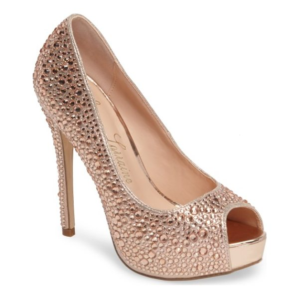 LAUREN LORRAINE 'candy' crystal peep toe pump - Eye-catching rhinestones add unmistakable glamour to a...
