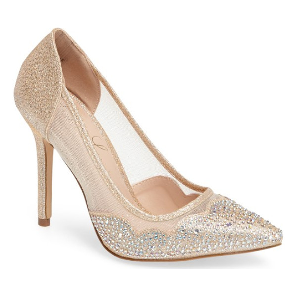 LAUREN LORRAINE elaine embellished pump - Lauren Lorraine updates a classic pump with crystal-covered...