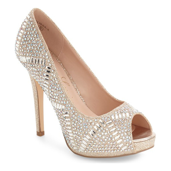LAUREN LORRAINE elissa - A tall stiletto heel and an array of sparkling crystals add