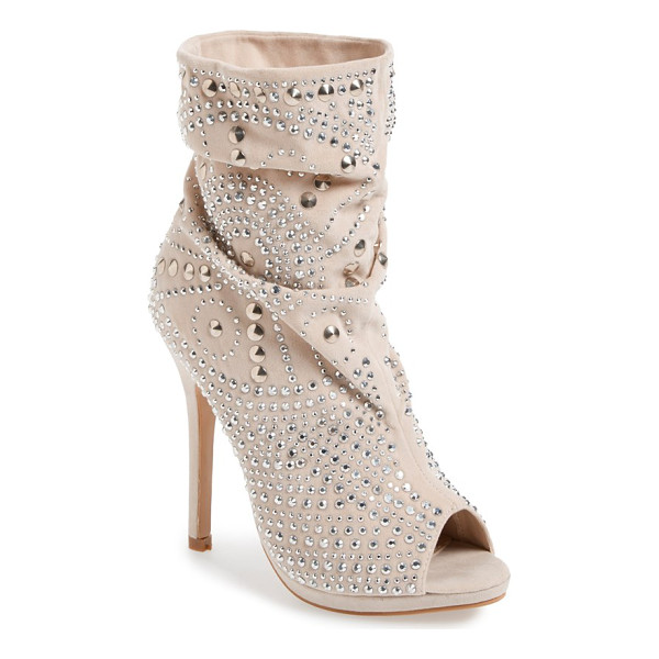 LAUREN LORRAINE lolita studded bootie - Flashy crystals and cone studs lend unmistakable drama to a...