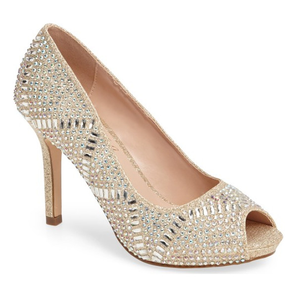 LAUREN LORRAINE paula embellished peep toe pump - Multifaceted studs add signature sparkle to a gorgeous
