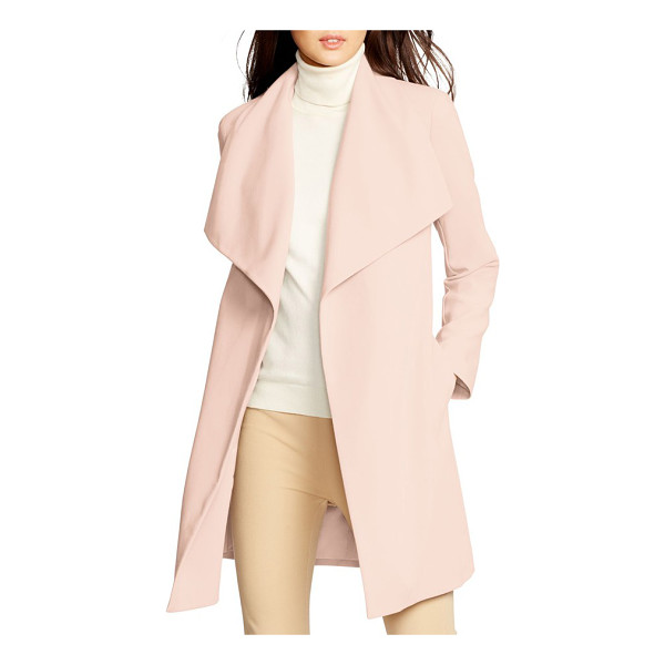 LAUREN RALPH LAUREN belted drape front coat - A shoulder-spanning collar caps off the chic and easy style...