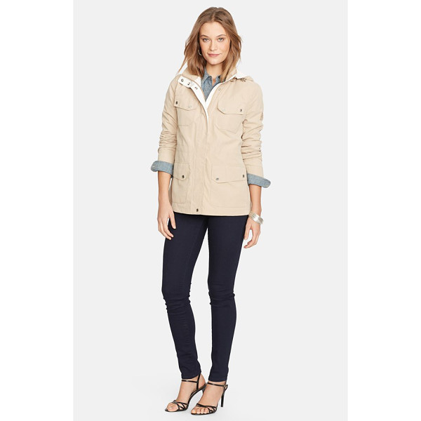 LAUREN RALPH LAUREN contrast trim anorak with detachable hood - A sporty anorak styled with a convertible stand collar and...