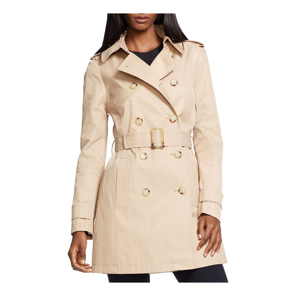 LAUREN RALPH LAUREN double breasted trench coat - Iconic details, including epaulets, a belted waist and a...
