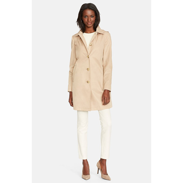 LAUREN RALPH LAUREN raincoat with detachable hood - A single-breasted raincoat in a simple and timeless look is...