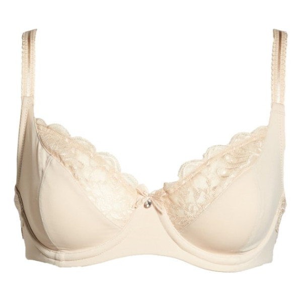LE MYSTERE 'sophia' underwire bra - Exquisite lace detailing edges the silky microfiber cups of...