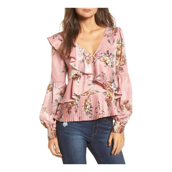 LEITH asymmetrical ruffle top - Cascading ruffles, romantic blooms and bloused sleeves...