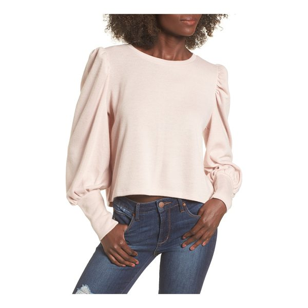 LEITH bloused sleeve sweater - Trendy puffed sleeves spin a retro vibe on this otherwise...