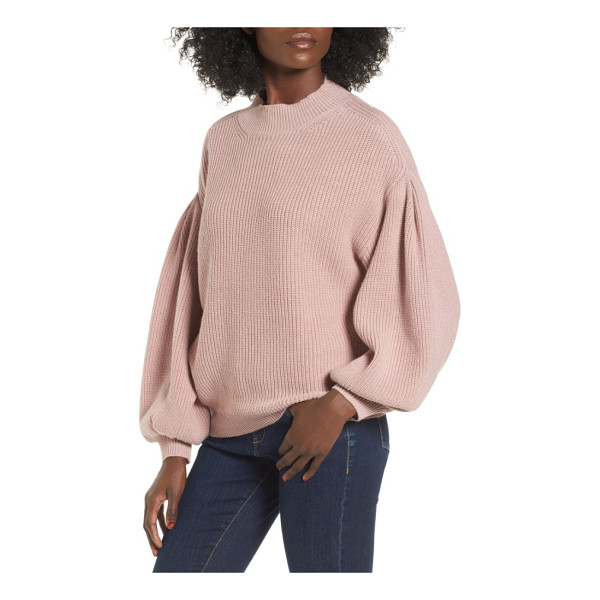 LEITH blouson sleeve sweater - Exaggerated blouson sleeves add slouchy charm to a...