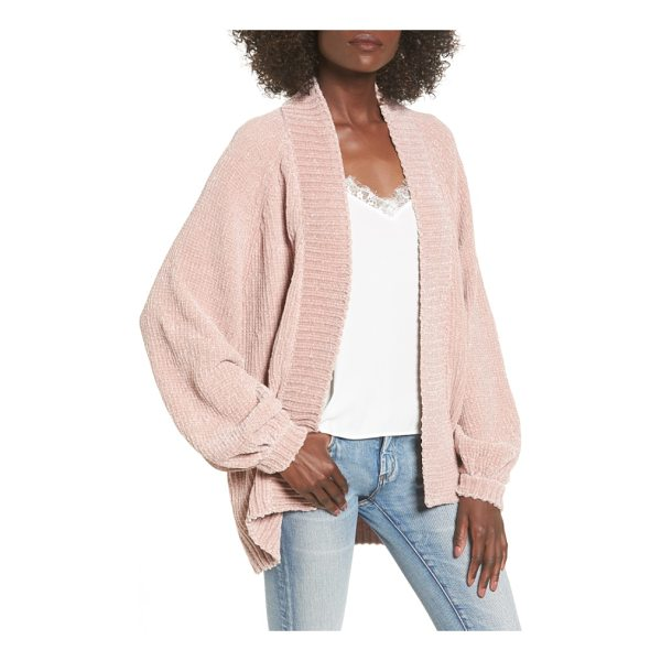 LEITH chenille blouson cardigan - Slip into the oversized softness of this plush chenille...