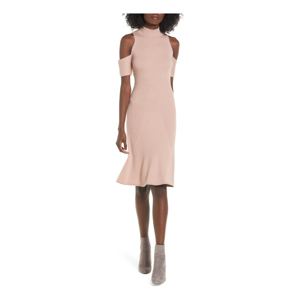LEITH cold shoulder sweater-dress - Carry the shoulder-baring trend into next season with this...
