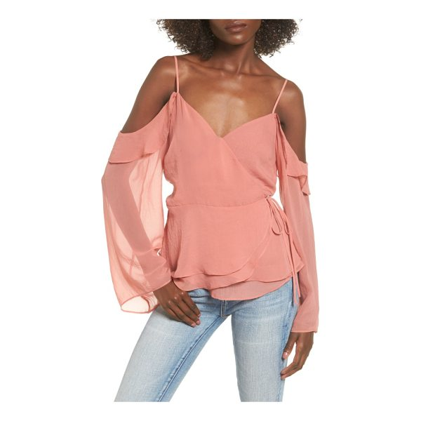 LEITH cold shoulder wrap top - Make your weekend a little more romantic in this swingy...