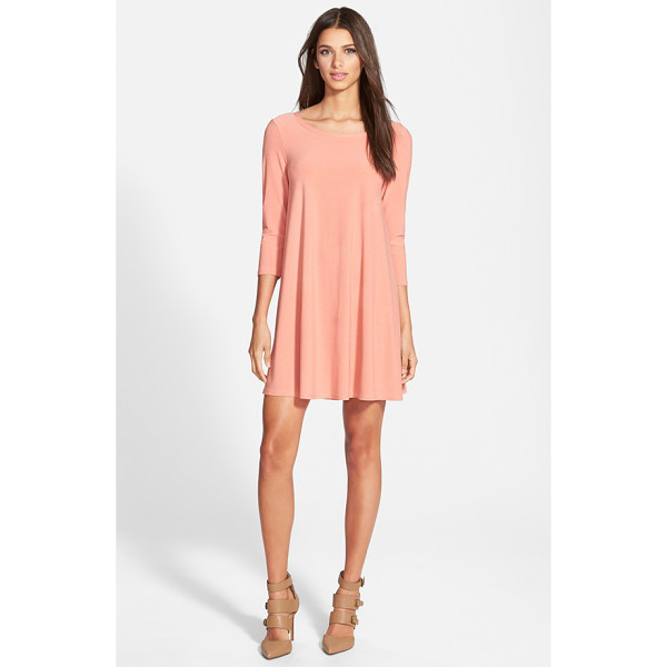 LEITH crepe trapeze dress - A flowy, flattering trapeze dress is knit from soft stretch...