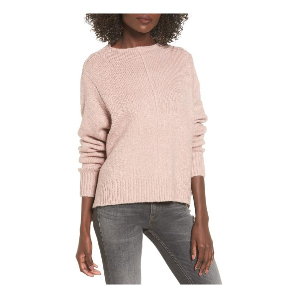 LEITH fuzzy side slit sweater - Get ready for the changing of the seasons in a perfectly...