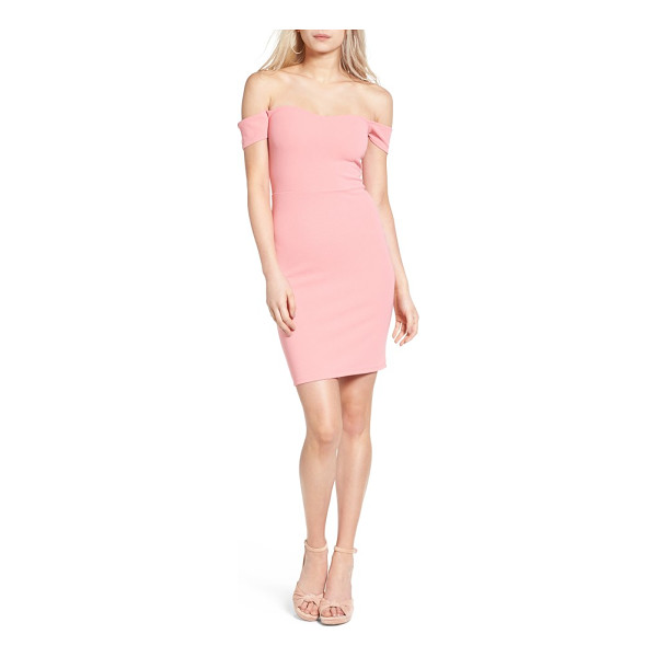 LEITH off the shoulder body-con dress - An off-the-shoulder neckline and a slim silhouette spell...