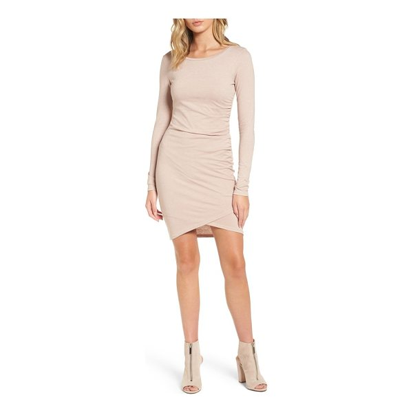 LEITH ruched long sleeve dress - Flattering ruching highlights your curves in a soft knit...