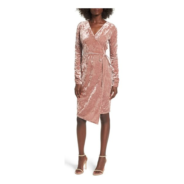 LEITH ruched velour wrap dress - An alternative spin on oversized looks, dense ruching...