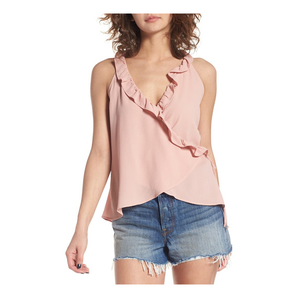 LEITH ruffle ruffle wrap tank - In a wrap silhouette that flatters pretty much everything,...