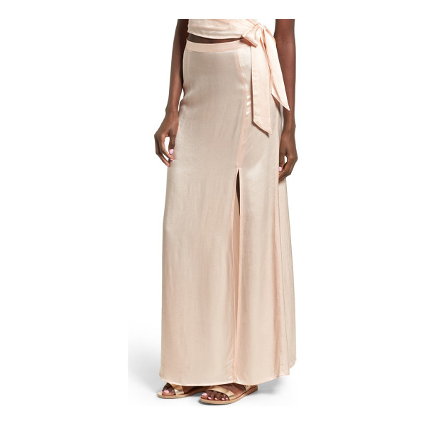 LEITH satin maxi skirt - This sateen-finished maxi shows off your glam side with its...