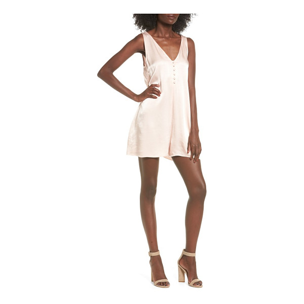 LEITH satin romper - Delectable, luminous satin skims the body and instantly...