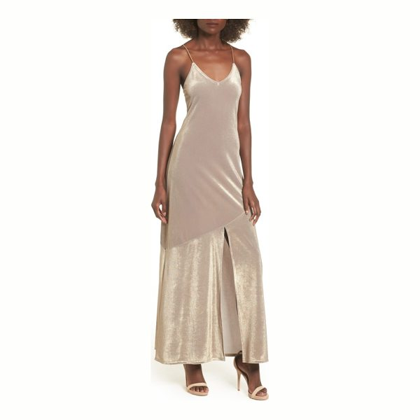 LEITH shine maxi dress - A sultry maxi slipdress in enchanting, luminous fabric...